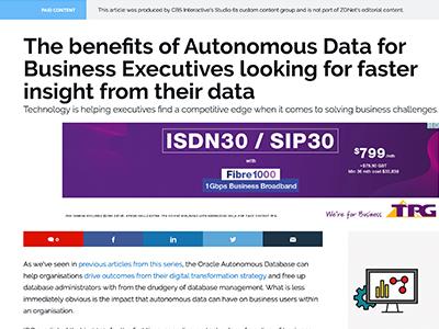 Oracle - The benefits of Autonomous Data